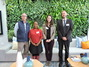 Left to right: Gavin White, Röhlig-Grindrod, with Ms Isabella Hlabangu (HoD Training & CSR), Ms Claudia Schmidt (Publications, Ops & Marketing) Mr Frank Aletter (Deputy CEO, HoD Business Development) all from the South Africa - German Chamber of Commerce Ind NPC